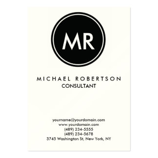 Quality Indestructible Stamp Monogram Unique Pack Of Chubby Business Cards