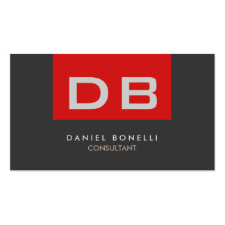 Quality Red Grey Monogram Unique Pack Of Standard Business Cards