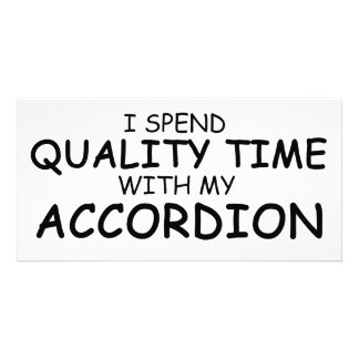 Quality Time Accordion Customized Photo Card