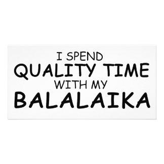 Quality Time Balalaika Photo Greeting Card