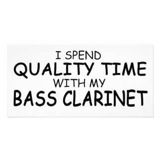 Quality Time Bass Clarinet Picture Card