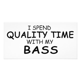 Quality Time Bass Picture Card