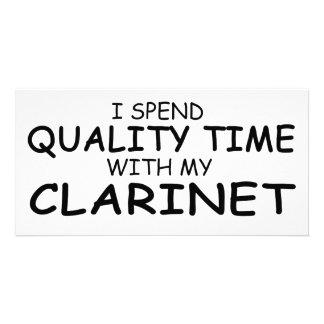 Quality Time Clarinet Custom Photo Card