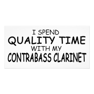 Quality Time Contrabass Clarinet Customised Photo Card