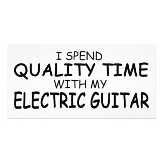 Quality Time Electric Guitar Picture Card