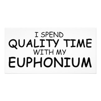 Quality Time Euphonium Custom Photo Card