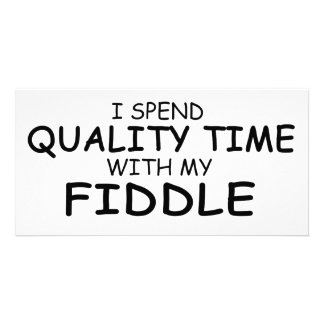 Quality Time Fiddle Photo Card Template