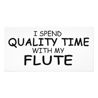 Quality Time Flute Custom Photo Card