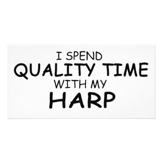 Quality Time Harp Photo Card