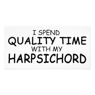 Quality Time Harpsichord Photo Card Template