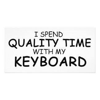 Quality Time Keyboard Photo Greeting Card