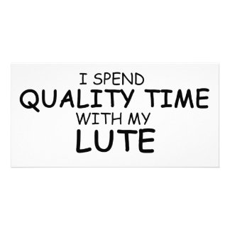 Quality Time Lute Customised Photo Card