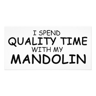 Quality Time Mandolin Personalised Photo Card
