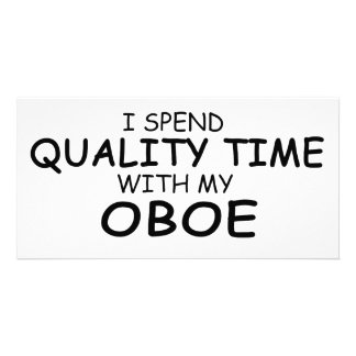 Quality Time Oboe Photo Card Template