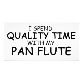Quality Time Pan Flute Photo Greeting Card