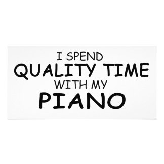 Quality Time Piano Photo Card Template
