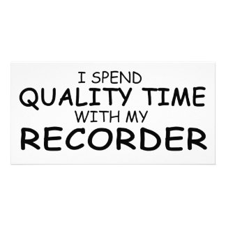 Quality Time Recorder Personalized Photo Card