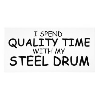 Quality Time Steel Drum Customized Photo Card