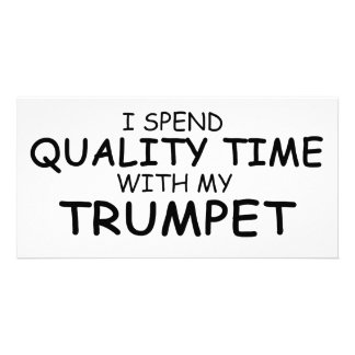 Quality Time Trumpet Photo Greeting Card