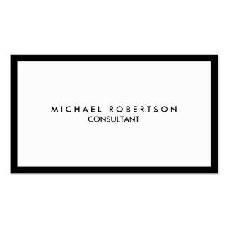 Quality Unique Plain Black Border White Pack Of Standard Business Cards