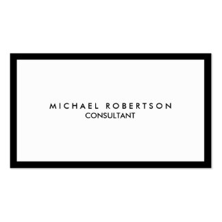 Quality Unique Plain Black Border White Pack Of Standard Business Cards
