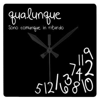 qualunque square wall clock