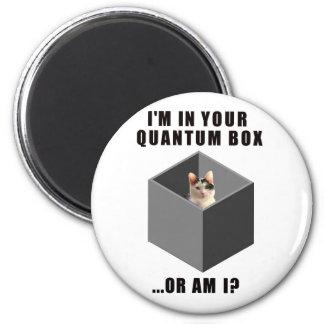 Quantum Cat 6 Cm Round Magnet