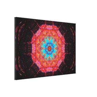 Quantum Computer Chip Mandala Canvas Print