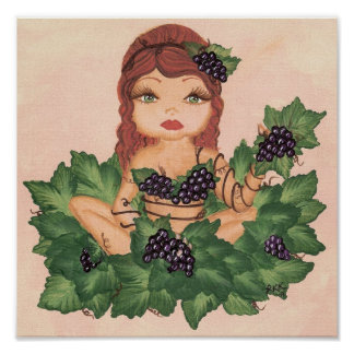 Quantum Cutie Grape Vine Girl Print