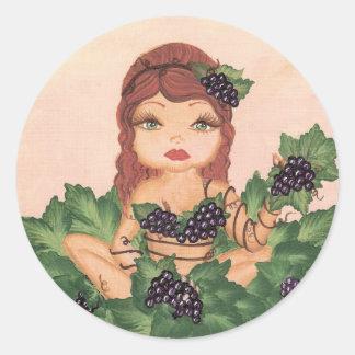 Quantum Cutie Grape Vine Girl Sticker