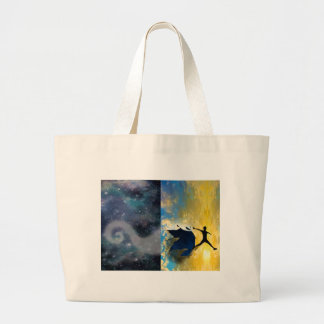 Quantum Jumps jumbo tote bag