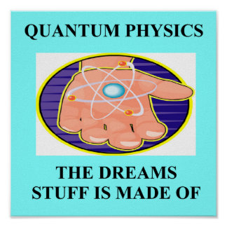 quantum mechanics physics design poster