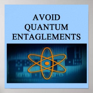 QUANTUM mechanics. Poster
