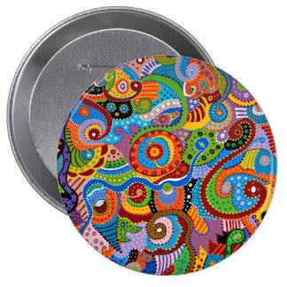 Quantum Strands 10 Cm Round Badge
