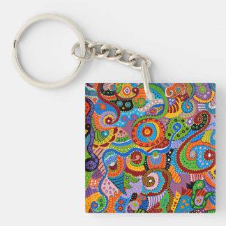 Quantum Strands Key Ring
