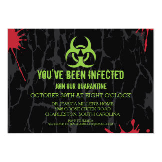 Quarantine Halloween Party Card