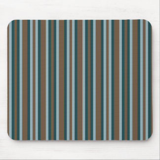 Quarry Teal Mod Alternating Stripes Mouse Pad