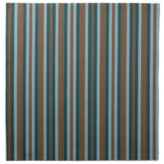Quarry Teal Mod Alternating Stripes Napkin