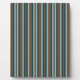 Quarry Teal Mod Alternating Stripes Plaque