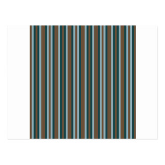 Quarry Teal Mod Alternating Stripes Postcard