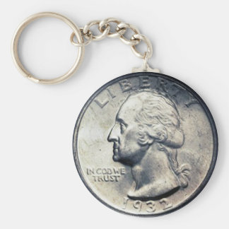Quarter Dollar Key Chain. Key Ring