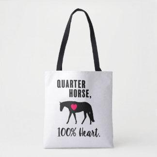 Quarter Horse, 100% Heart - Western Pleasure Tote Bag