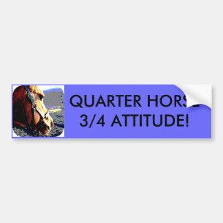 QUARTER HORSE - 3/4 ATTITUDE! BUMPER STICKERS