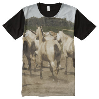 Quarter Horse Herd All-Over Print T-Shirt