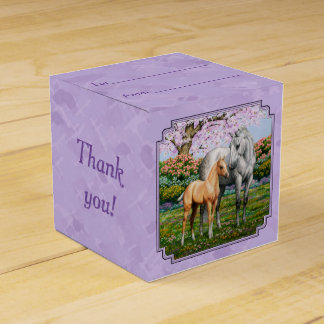 Quarter Horse Mare and Foal Purple Favour Box