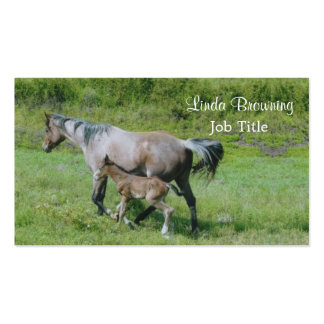 Quarter Horse Mare with Foal at Side Business Card