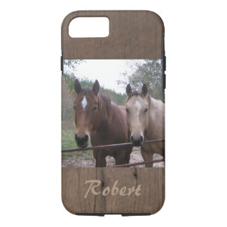 Quarter Horses Standing by the Gate iPhone 7 Case