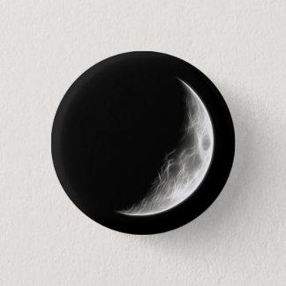 Quarter Moon Lunar Planet Globe 3 Cm Round Badge