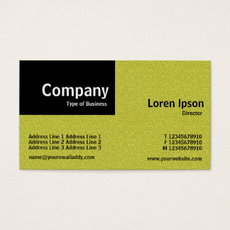 Quarter Patch - Yellow Embossed Texture Business Card