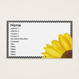 Quarter Sunflower Business Card - Horizontal